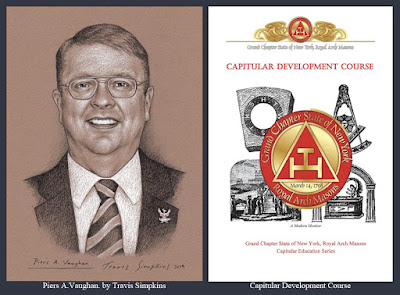 Piers A. Vaughan. Grand Chapter of New York. Royal Arch Masons. York Rite. by Travis Simpkins