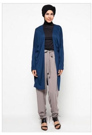 Model Baju Muslim Rompi Panjang Sifon Terbaru