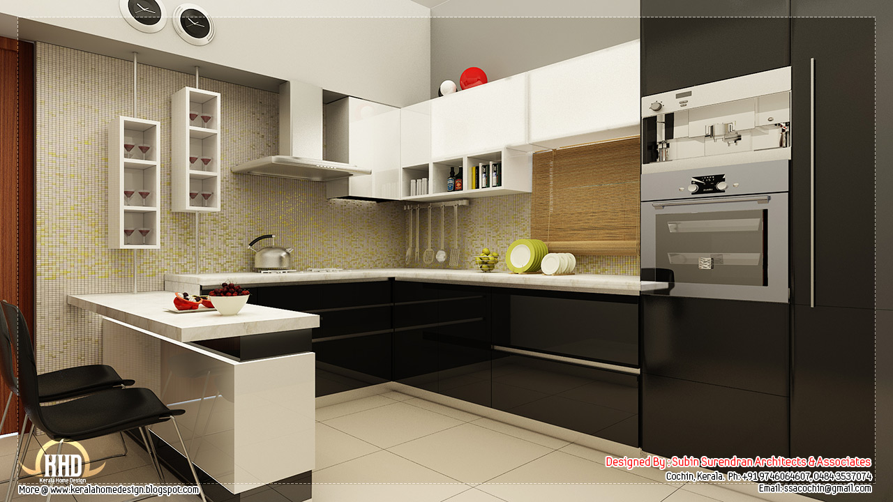 Beautiful home interior designs kerala home design and for Kitchen interior design india