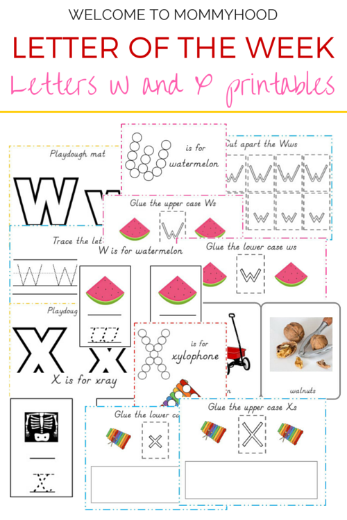Tot Labs presents Letter of the Week: FREE Letters W & X printables by Welcome to Mommyhood, #preschoolactivities, #montessoriactivities, #montessori, #handsonlearning, #letteroftheweek, #lotw, #freeprintables
