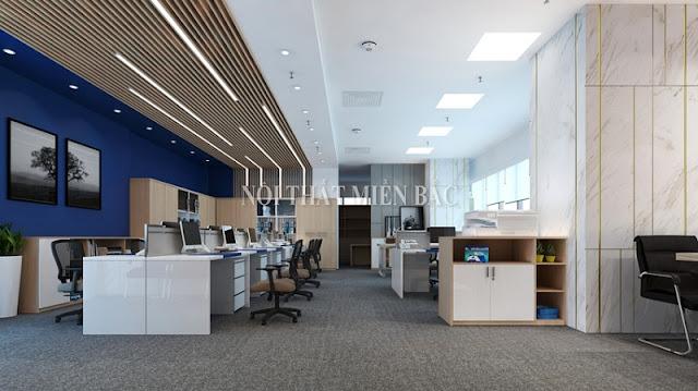 Thiết kế nội thất văn phòng hiện đại không gian làm việc cao cấp