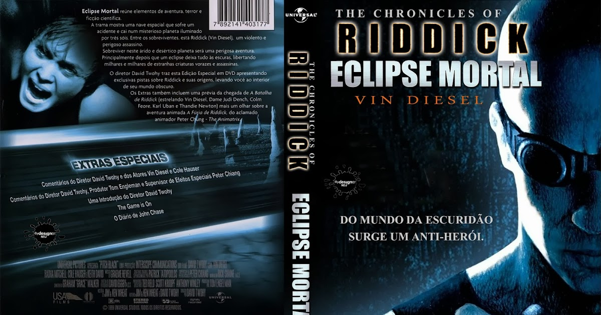 CAPAS DVD VIDEO JP: RIDDICK 1 ECLIPSE MORTAL