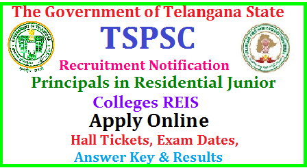 TSPSC Principals in Junior Colleges REIS Recruitment Notification, Vacancies, Eligibility , Syllabus, Scheme of Examination , Online Application TSPSC Principals in Junior Colleges REIS Posts Recruitment| TSPSCPrincipals in Junior Colleges REIS Posts Recruitment online application form | Telangana Public Service Commission is inviting Online Applications form qualified candidates to the posts of Principals in Junior Colleges REIS in Telangana | Vacancies,Eligibility Criteria Syllabus for Preliminary and Main Exams| Scheme of Examination for Principals in Junior Colleges REIS Posts | Date of Examination fee payment details | How to apply online for the post ofPrincipals in Junior Colleges REIS Posts notification by TSPSC| TSPSC Principals in Junior Colleges REIS Posts Recruitment Hall Tickets| TSPSCPrincipals in Junior Colleges REIS Posts Recruitment Results| TSPSC Principals in Junior Colleges REIS Posts Recruitment Exam Answer Key ,Final Key| TSPSC Principals in Junior Colleges REISr Posts Recruitment Preliminary exam Date | TSPSC AEE Assistant Executive Engineer Posts Recruitment Main Exam date | TSPSCPrincipals in Junior Colleges REIS Posts Recruitment exam Pattern and many more details are available on Commissions web portal @ www.tspsc.gov.in | tspsc-principals-junior-colleges-reis-recruitment-notification-apply-online-hall-tickets-results-download-www.tspsc.gov.in TSPSC Principals in Junior Colleges REIS Posts Recruitment Notification 2017 TSPSC has published the Principals in Junior Colleges REIS Posts Recruitment 2017 Notification on May 1 and Online Applications are invited through online mode at TSPSC Web Portal for filling up of TSPSC Principals in Junior Colleges REIS Posts/2017/06/tspsc-principals-in-junior-colleges-reis-recruitment-notification-2017-apply-online-hall-tickets-answer-key-results-download-tspsc-gov.in.html