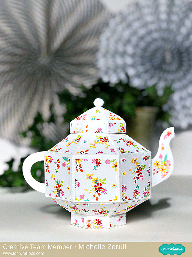 Paper Teapot by Michelle Zerull for Lori Whitlock using Echo Park Paper