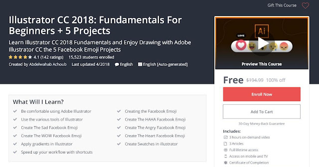 Illustrator CC 2018: Fundamentals For Beginners + 5 Projects