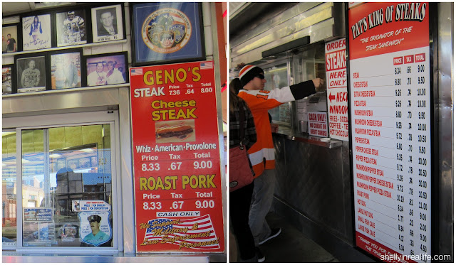 The menus at Pat's and Geno's