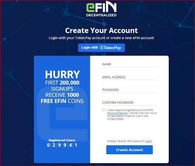 """مشروع منصة """"إفان EFIN"""" سارع بالتسجيل للحصول على 1000 """"توكنز"""" قابلة للمضاعفة!"""