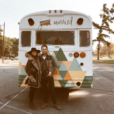 Troian Bellisario and Patrick J Adams almost married converted wedding bus