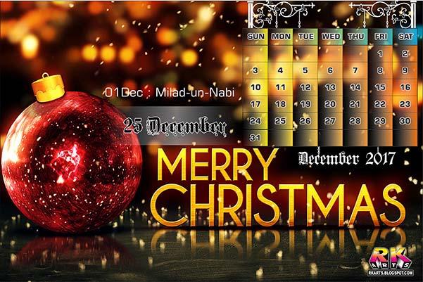 Holiday Calendar December 2017