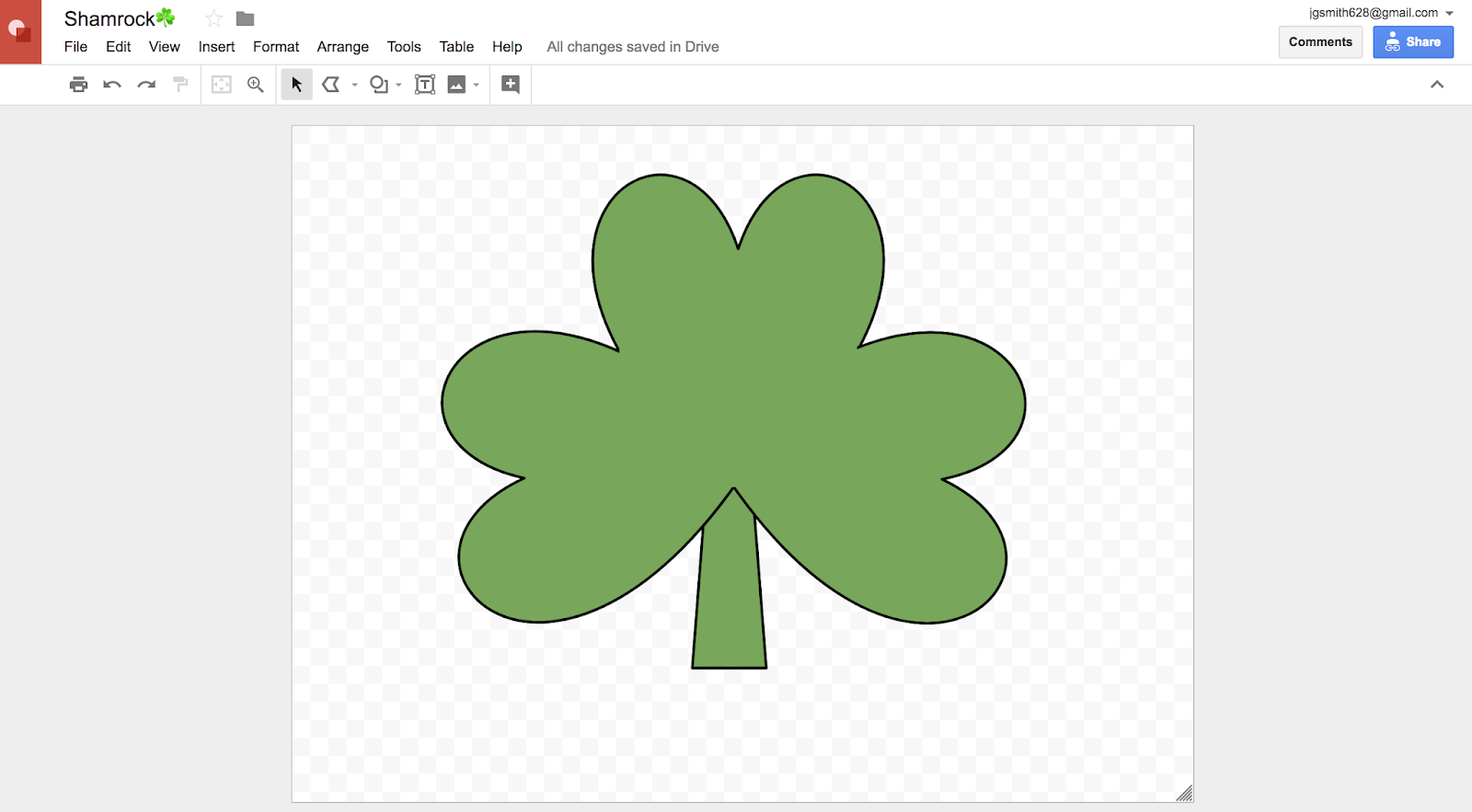 Decorate a clover in Google Drawing