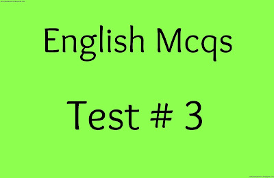 english mcqs test no 3