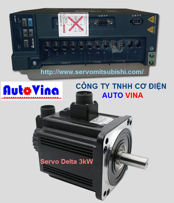 Auto Vina đơn vị nhập khẩu và phân phối bộ điều khiển AC Servo, Động cơ Motor Servo hãng Delta 3kW : ASD-B2-3023-B , ECMA-E21830GS, ECMA-E21830RS, ECMA-F21830RS