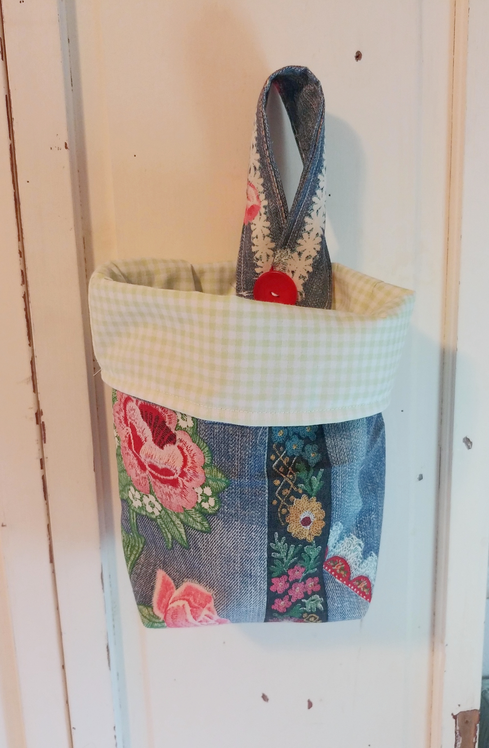 make a lined basket from fabric