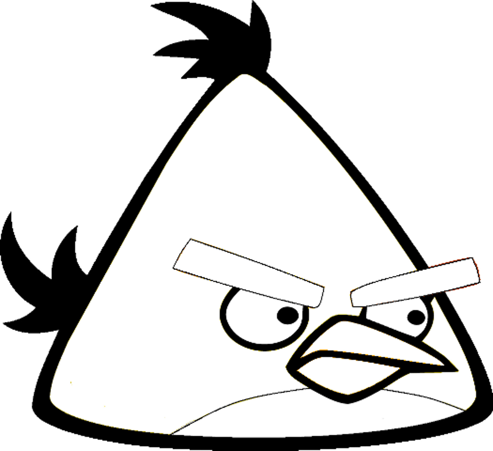 Desenhos dos angry birds para colorir pintar imprimir e preparar atividades espa o educar - Angry bird dessin ...