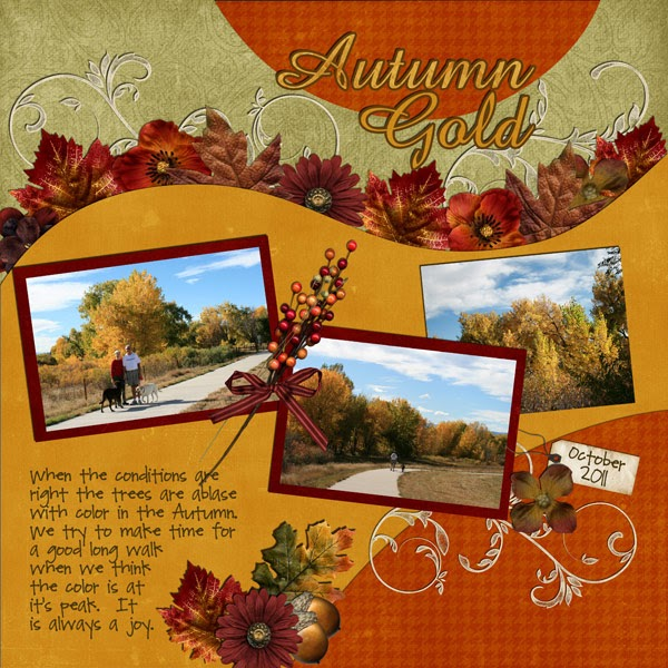Ideas For Scrapbookers A New Template For Your Fall Photos
