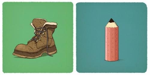 giày và bút chì