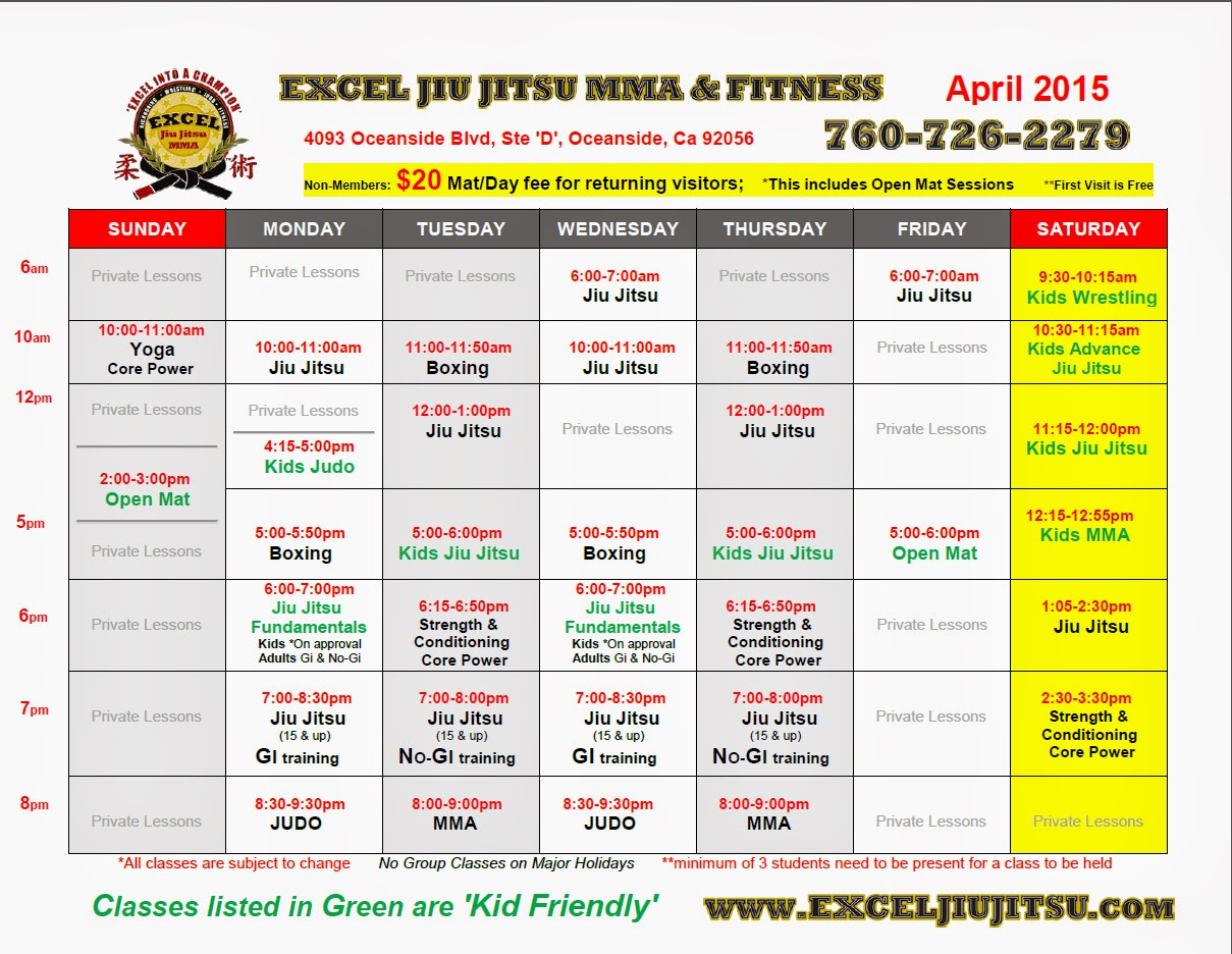 Excel Jiu Jitsu MMA & Fitness: BJJ , Strength & Conditioning