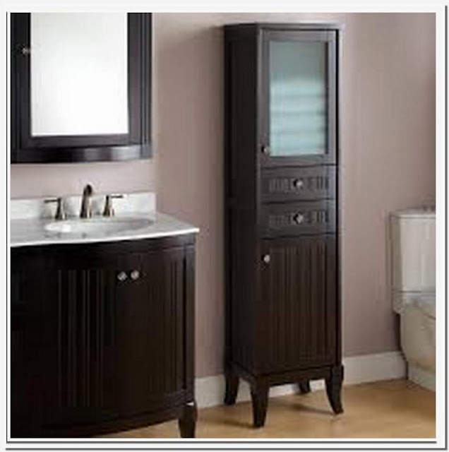 Bathroom linen and storage cabinets
