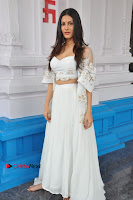 Telugu Actress Amyra Dastur Stills in White Skirt and Blouse at Anandi Indira Production LLP Production no 1 Opening  0017.JPG