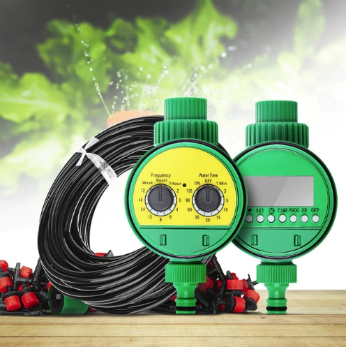 Система автоматического капельного орошения и распыления для растений и парников набор для полива с регулятором