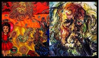 Salah satu lukisan Affandi Koesoema