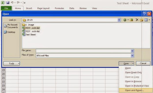 Some Simple Ways to Fix Excel Corruption Issues ~ Excle File Recovery Tool
