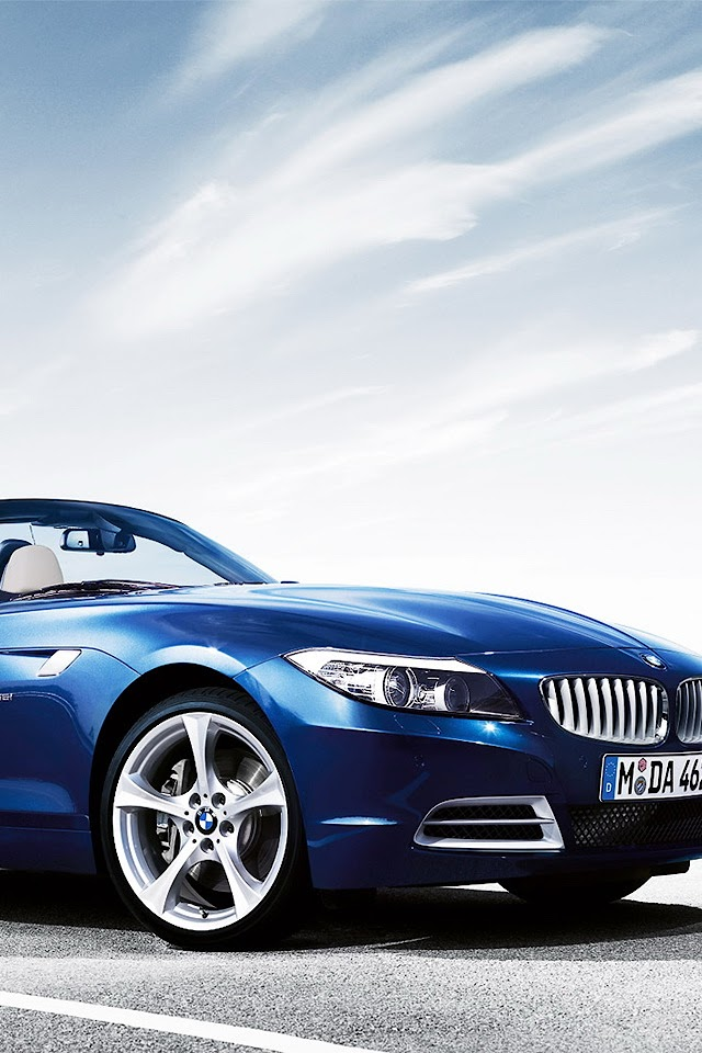 BMW Z4 Blue   Galaxy Note HD Wallpaper