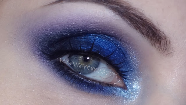 blue and purple makeup