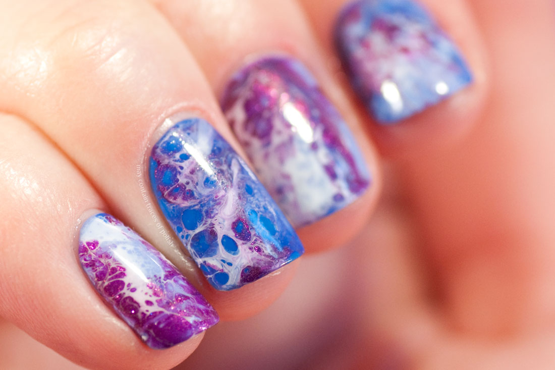 Abstract Ocean Nail Art with Dance Legend Spot It White