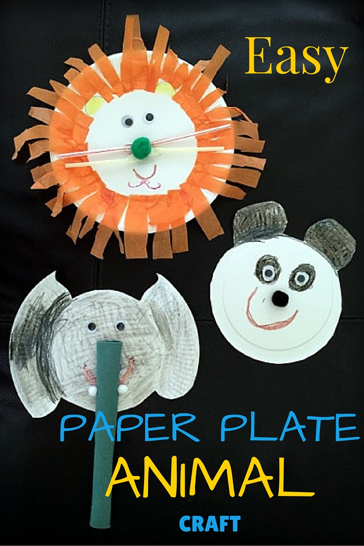 Rambling through parenthood easy paper plate animal craft for Easy paper plate crafts