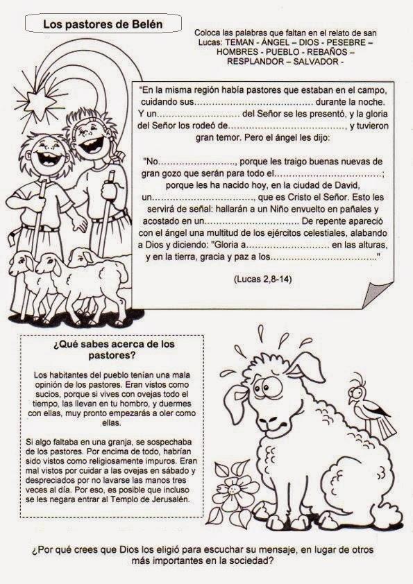 Parroquia La Inmaculada: Fichas para niños: Natividad del ...