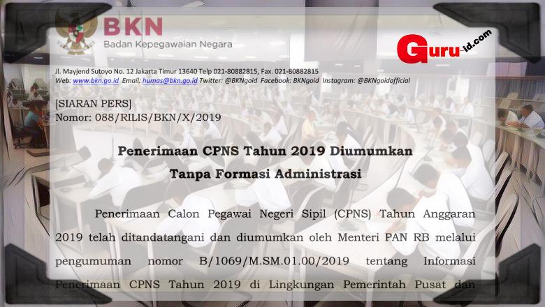 gambar pengumuman cpns 2019