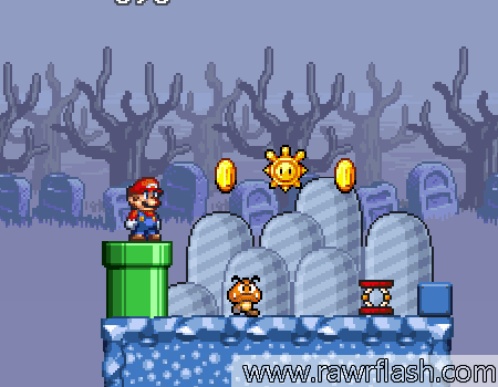 Jogos de plataforma, do mario, fantasmas: Super Mario na ilha fantasma.