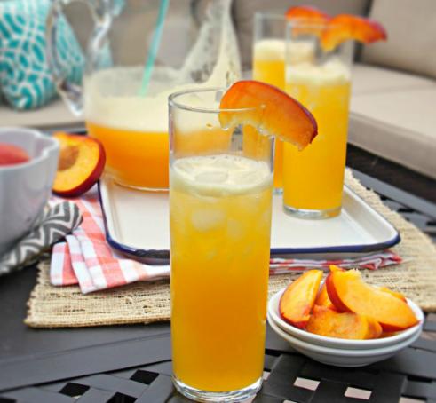 Peach Iced Tea  #drink #fres