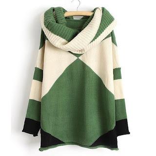 Jersey de manga larga con bufanda