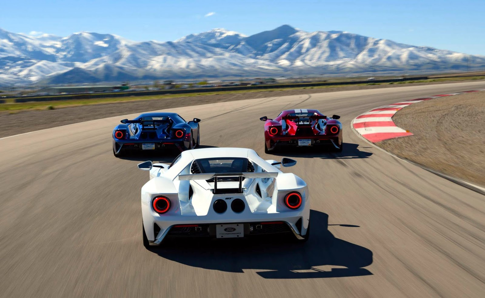 Ford gt drivers joey hand dirk m ller and billy johnson made a pit stop at the ford performance racing school in tooele utah before the imsa and fia wec