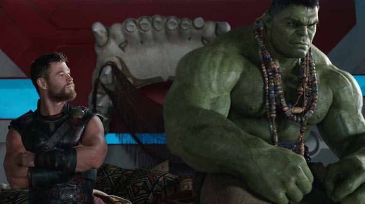 Thor y Hulk en Thor: Ragnarok