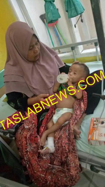 Bocah penderita gizi buruk di Tanjungbalai.