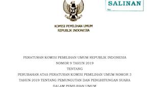 Download PKPU RI Nomor 9 Tahun 2019