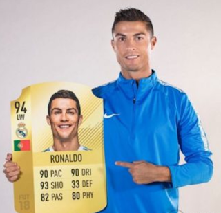 Cristiano Ronaldo Celebrates As He Was Ranked Number On FIFA 18