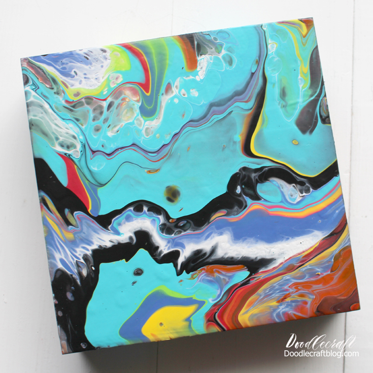 Plaid Crafts Marbling Acrylic Dirty Paint Pour Diy