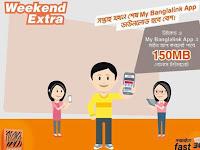 Banglalink app weekend extra 150MB data offer