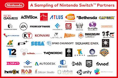Todas las empresas relacionadas con la nueva Switch