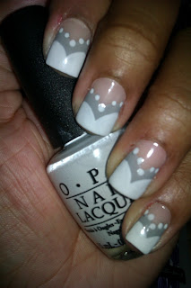 Lonesome Dove, My Boyfriend Scales Walls, grey, grey, off-white, nail art, nail design, mani