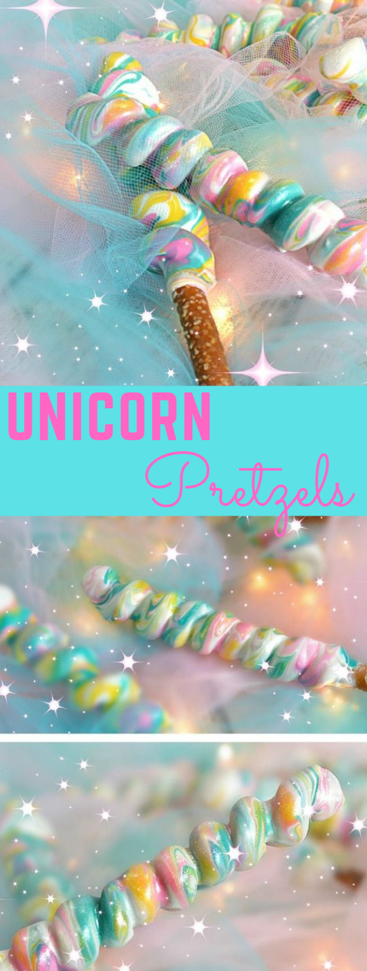 Unicorn Pretzels #dessert #cake