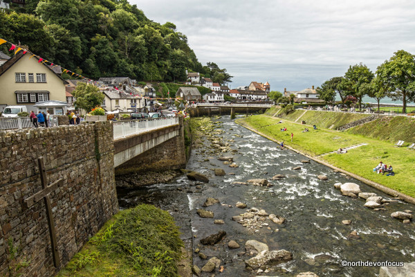 The Memorial Cross for the victims of the Lynmouth Flood at Lynmouth Today - Photo copyright Pat Adams