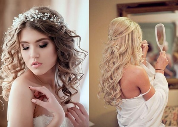 Wedding Hairstyle with Permanent Waves 6