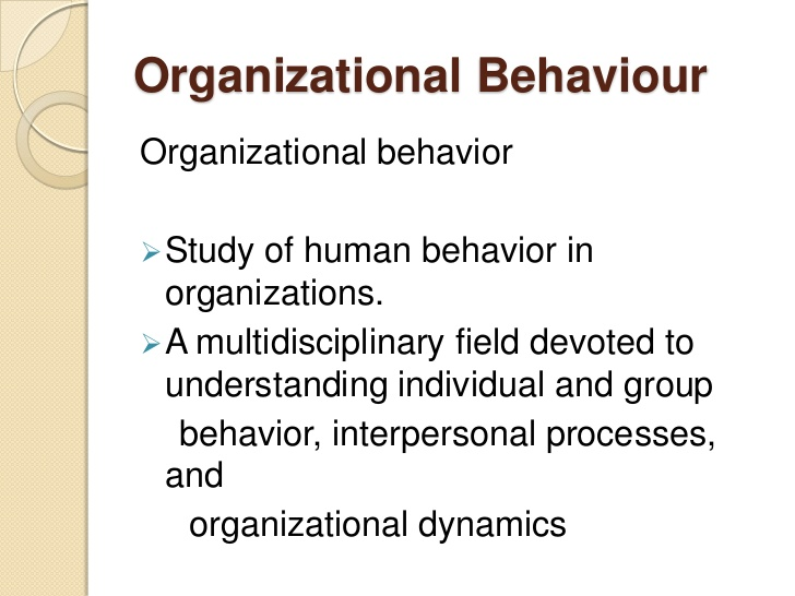 BA7105 Organizational Behaviour Syllabus Notes Question