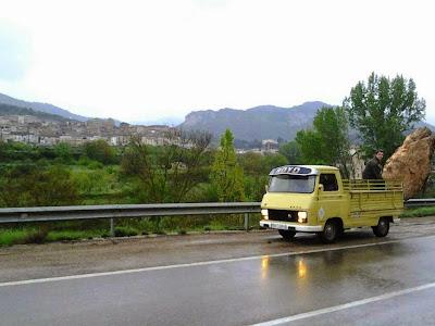 Moncho, eixecacódols, roquerol, roca, piedra, furgoneta, Royo