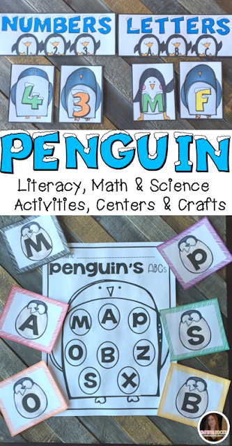 Penguin activities was created with preschool in mind. This unit would also work well in a kindergarten classroom. The boys and girls will learn important math, literacy and book comprehension concepts, strategies and skills through book/fact centered lessons and activities.